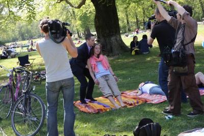 Blitzhypnose bei Dreharbeiten für 3sat nano - Alexander Seel Hypnose